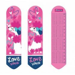 Закладка для книг 1Вересня Love XOXO 2D эффект, 707341