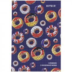 Словарь для иностранного языка 40 листов А5 Donuts Kite K21-407-2