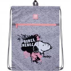 Сумка для обуви  Kite Education Snoopy  с карманом SN21-601L