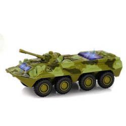 Военная машина металлическая инерционная БТР, 6409D