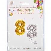 Надувные шарики 40см золото-серебро 35-7 №8