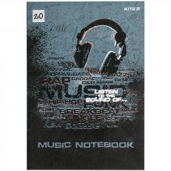 Тетрадь для нот 20 листов А4 Listen to the sound Kite K21-404
