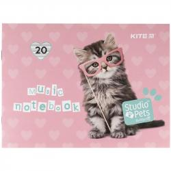 Тетрадь для нот 20 листов А5 Studio Pets Kite SP21-405