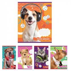 Тетрадь для нот А5 12 листов Pets in headphone 1Вересня 764881