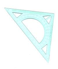 Треугольник 20см с транспортиром голубой IRBIS 00001058
