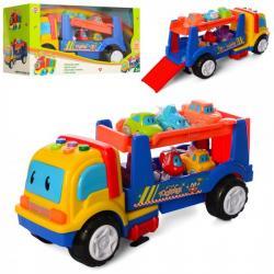 Трейлер с машинками 6 штук, 969-K10