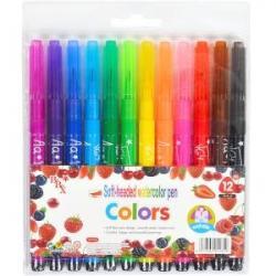 Фломастеры - кисточки COLOR-IT Colors 12 цветов 1818-12