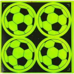 Наклейка светоотражающая 4 шт. Мяч