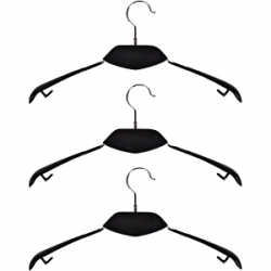 Вешалка-плечики, дерево черное металл силикон 40см