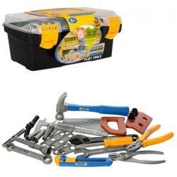 Набор инструментов (пила, молоток, отвертка, плоскогубцы, в чемодане), 29128