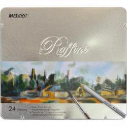 Карандаши акварельные Marco Raffine 24 цвета с кисточкой 7120/24TN