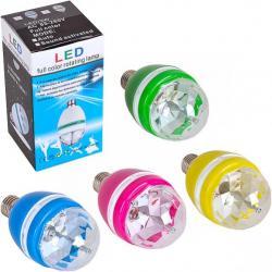 Вращается лампа LED Бриллиант цветной 13-77