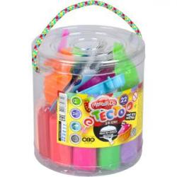 Набор креативного творчества Тесто для лепки Master Do укр туба 22 цвета TMD-01-04