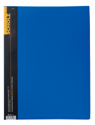 Папка SCHOLZ А4 30 файлов синяя 06502