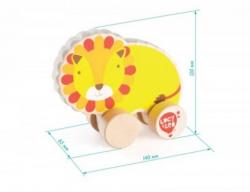 Каталка деревянная Лев