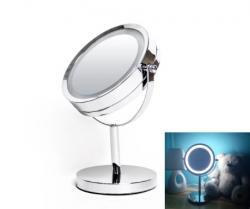 Зеркало косметическое настольное Eco Fabric с LED подсветкой d = 17см, TRL0603-17LED