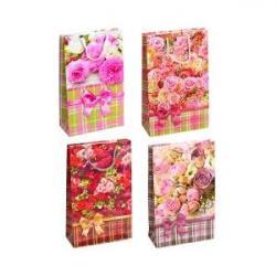 Пакет цветной средний Цветочный микс 3017