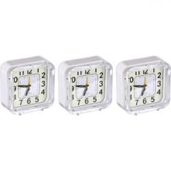 Настольные часы-будильник Квадрат с подсветкой 901