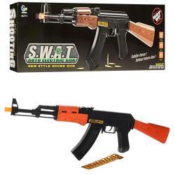 Автомат (пули, шнурок, звук, свет, бат.) AK 47-1
