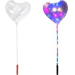 Надувной шарик, светится led в форме сердца