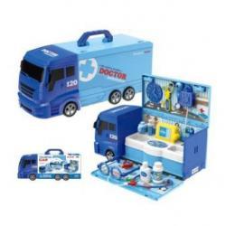 Доктор (очки, инструменты, 21 предмет, машина-чемодан), 8366P