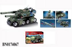 Конструктор KAZI  Армия  Танк 81007 380 элементов