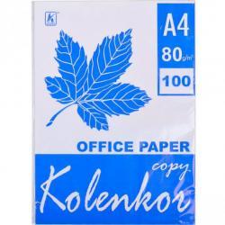 Бумага офисная Коленкор А4 80 г / м2 100 листов Белый