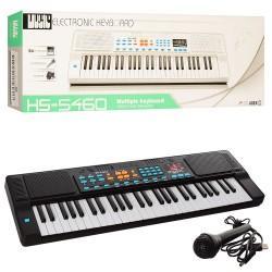 Синтезатор 54 клавиши (микрофон, запись, USB зарядное, звук), HS5460A