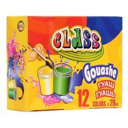Краски гуашевые CLASS 12 цветов 20мл в картонной упаковке