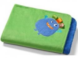 Одеяльце 75х100 двустороннее из микрофибры 3D синее