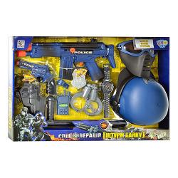 Набор полицейского (автомат, каска, маска) в коробке 33540