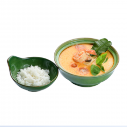 Фото Тай суп на кокосовом молоке с морепродуктами