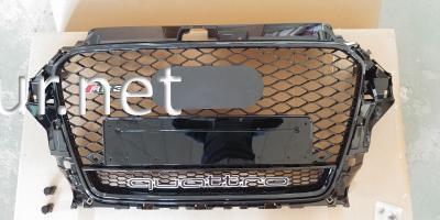 Фото Решетка радиатора Audi A3 стиль RS3 черная окантовка черная сетка 2012- QUATTRO