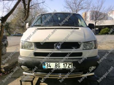 Фото Защита переднего бампера Volkswagen Т4 двойной ус