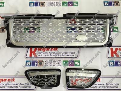 Фото Решетка радиатора и жабры Range Rover Sport (2005-2009) LR019207 (LR019280/LR019283)