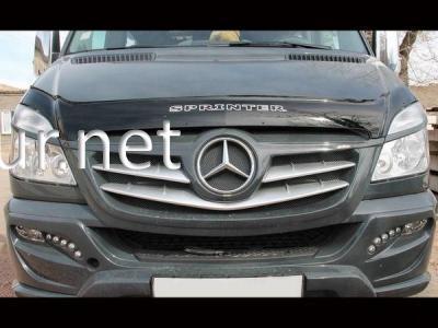 Фото Дефлектор капота - мухобойка (VIP) Mercedes Sprinter 2013-…