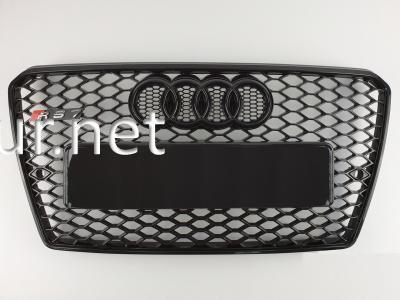 Фото Решетка радиатора Audi A7 2012-2015, стиль RS7 (черная с черной окантовкой)