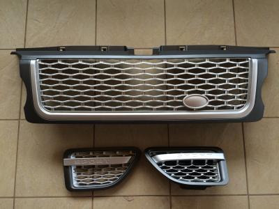 Фото Решетка радиатора и жабры Range Rover Sport (2005-2009) Серая LR019206 (LR020795/LR020802)