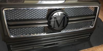 Фото Карбоновая решетка в стиле MansorY на Mercedes Benz G Class W463