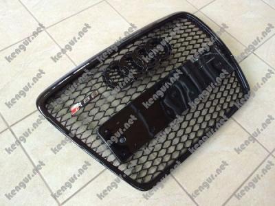 Фото Решетка радиатора Audi A6 2008-2011, стиль RS6 (черная с черной окантовкой)