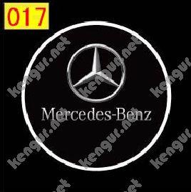 Фото Лазерная подсветка дверей с логотипом Mercedes (№017)