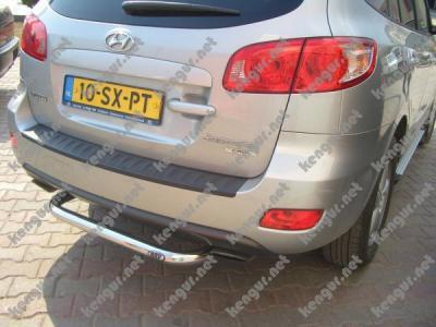 Фото Защитная дуга заднего бампера (подкова) Hyundai Santa Fe 2006-...