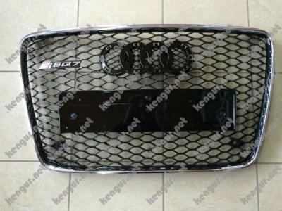 Фото Решетка радиатора RSQ7 на Audi Q7 (2012-...) чёрная с хром окантовкой