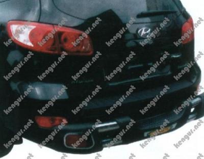 Фото Защита заднего бампера Hyundai Santa Fe #834107