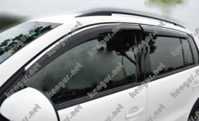 Фото Ветровики окон Volkswagen Tiguan с хромированным молдингом