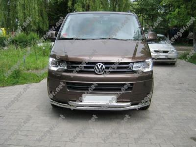 Фото Защита переднего бампера Volkswagen T5 двойной ус ST0140008