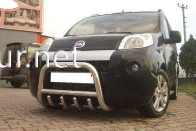Фото Защита переднего бампера - кенгурятник (Tamsan) Fiat Fiorino 2008-...