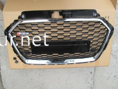 Фото Решетка радиатора Audi A3 стиль RS3 хром окантовка черная сетка QUATTRO 2016-