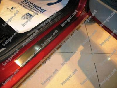 Фото накладки на пороги из нержавеющей стали FORD  C-MAX