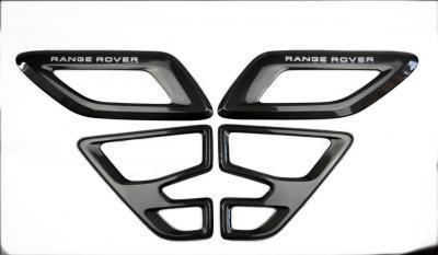 Фото Карбоновые воздуховоды на капот для Range Rover Sport SVR